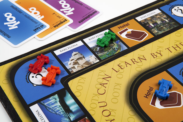 Learn Spanish with KLOO's Race to Madrid Board Game
