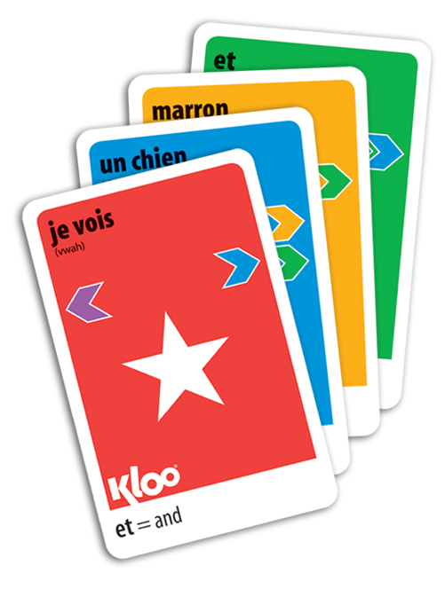Make useful foreign sentences with French KLOO cards
