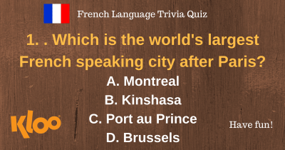 French Language Quiz On-line