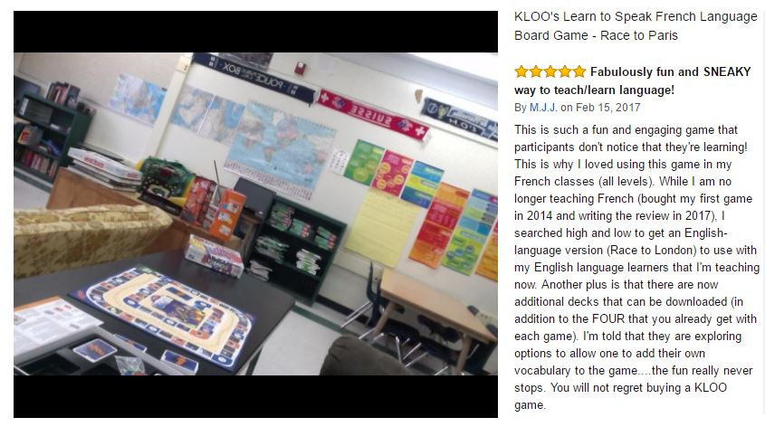 Teacher uses KLOO to teach French