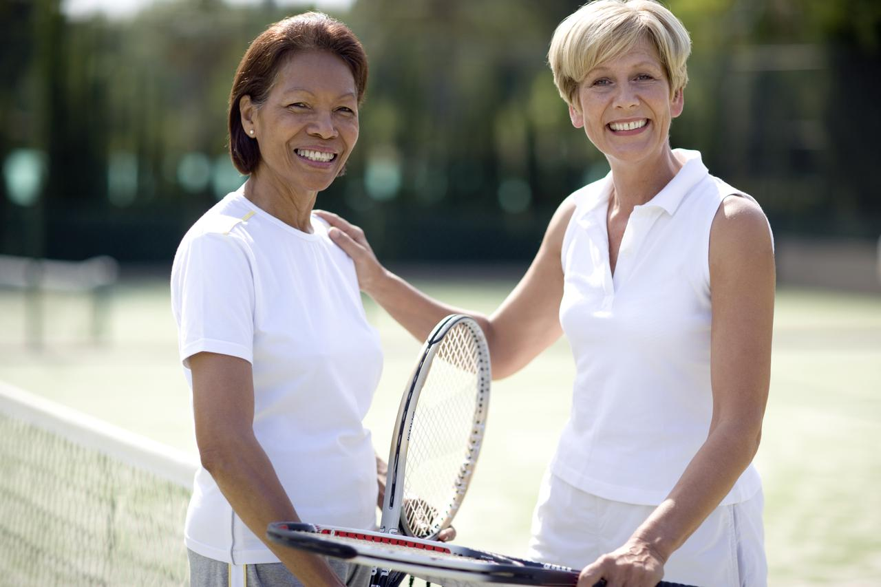 Tennis players use the right equipment