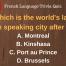 French Language Quiz On-line